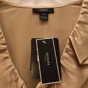 b9e522c859144 Alfani Tops - Women s Gold 100% Silk Shirt